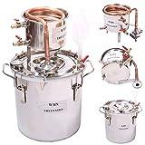 DIY 2 Gal 10 Liters Copper Alcohol Moonshine Stills Ethanol Still Spirits Boiler Water Distiller