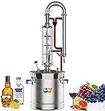 YUEWO Moonshine Still 5.8 Gal 22 Litres Stainless Steel Wine Making Kit Water Distiller Home Brewing Kit for DIY Whisky Wine Brandy Gin Vodka (Produce 90% ABV)
