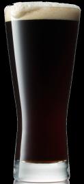 Cascadian ale in a glass