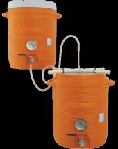 10 Gallon Cooler Mash-Lauter Tun MLT and Hot Liquor Tank HLT