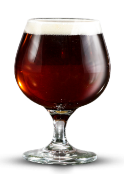 A picture of old cave dweller barley wine in a glass.