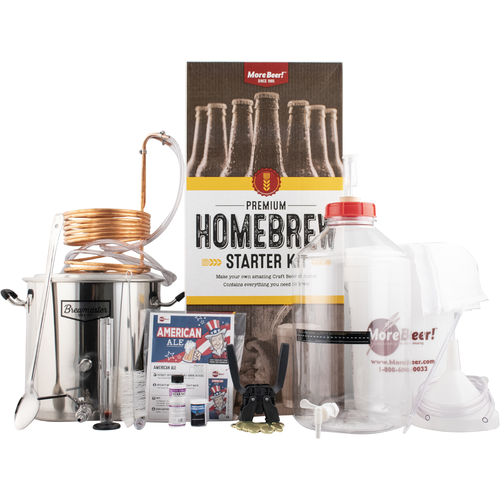 MoreBeer's premiering brewing  starter kit with begging system
