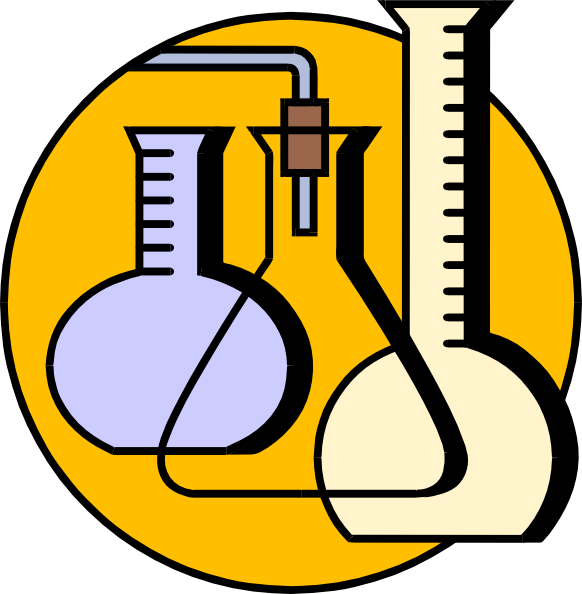 An animated picture of beakers.
