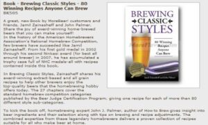 Brewing classic styles book cover