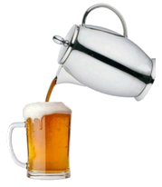 Coffee being poured into a beer
