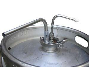 American Sanke Keg Fermenter Kit installed in a keg