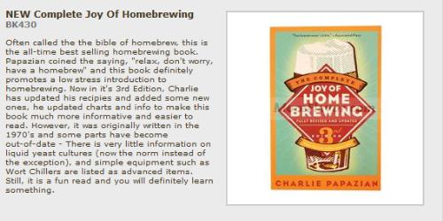 Joy of Home Brewing book cover