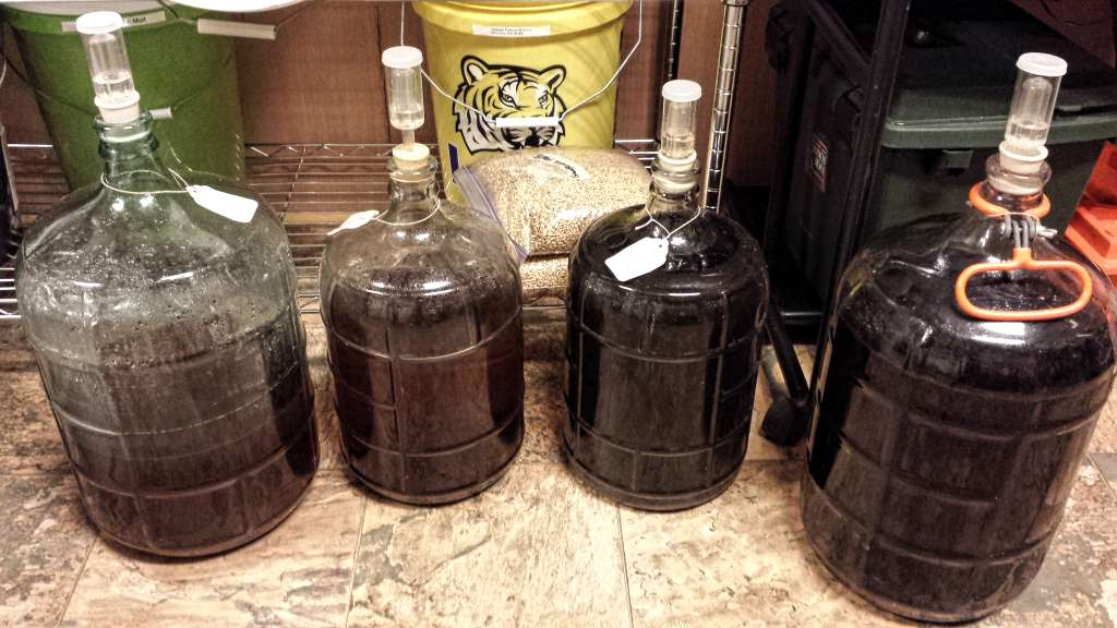 Mead that is bulk aging.