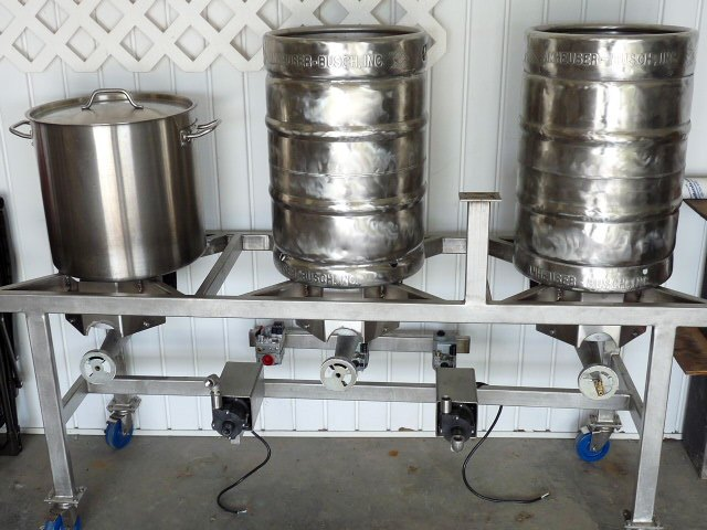 Kegs and BK on Brew Stand