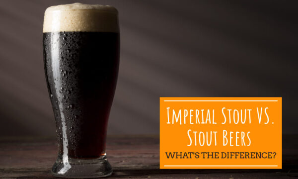 A picture of dark beer in a glass. Text reads imperial stout vs stout beers, what's the difference?