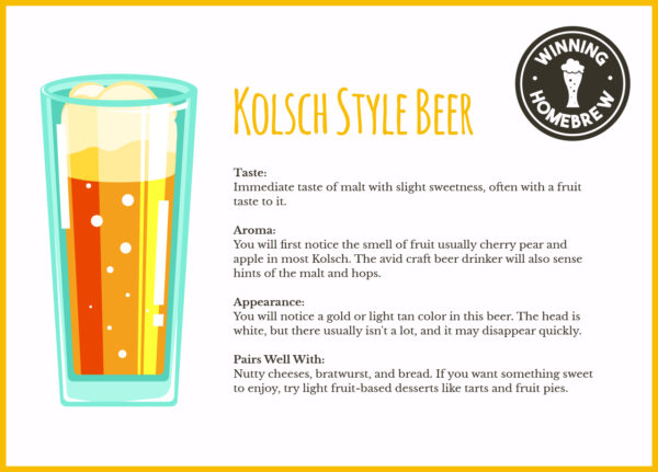 Kolsch Style Beer Infographic
