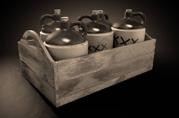 Stored Moonshine In Jugs